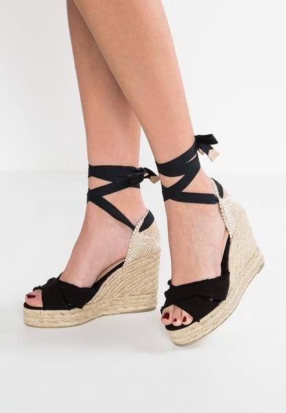Womens Black Castañer BLUMA - Wedge sandals - nero