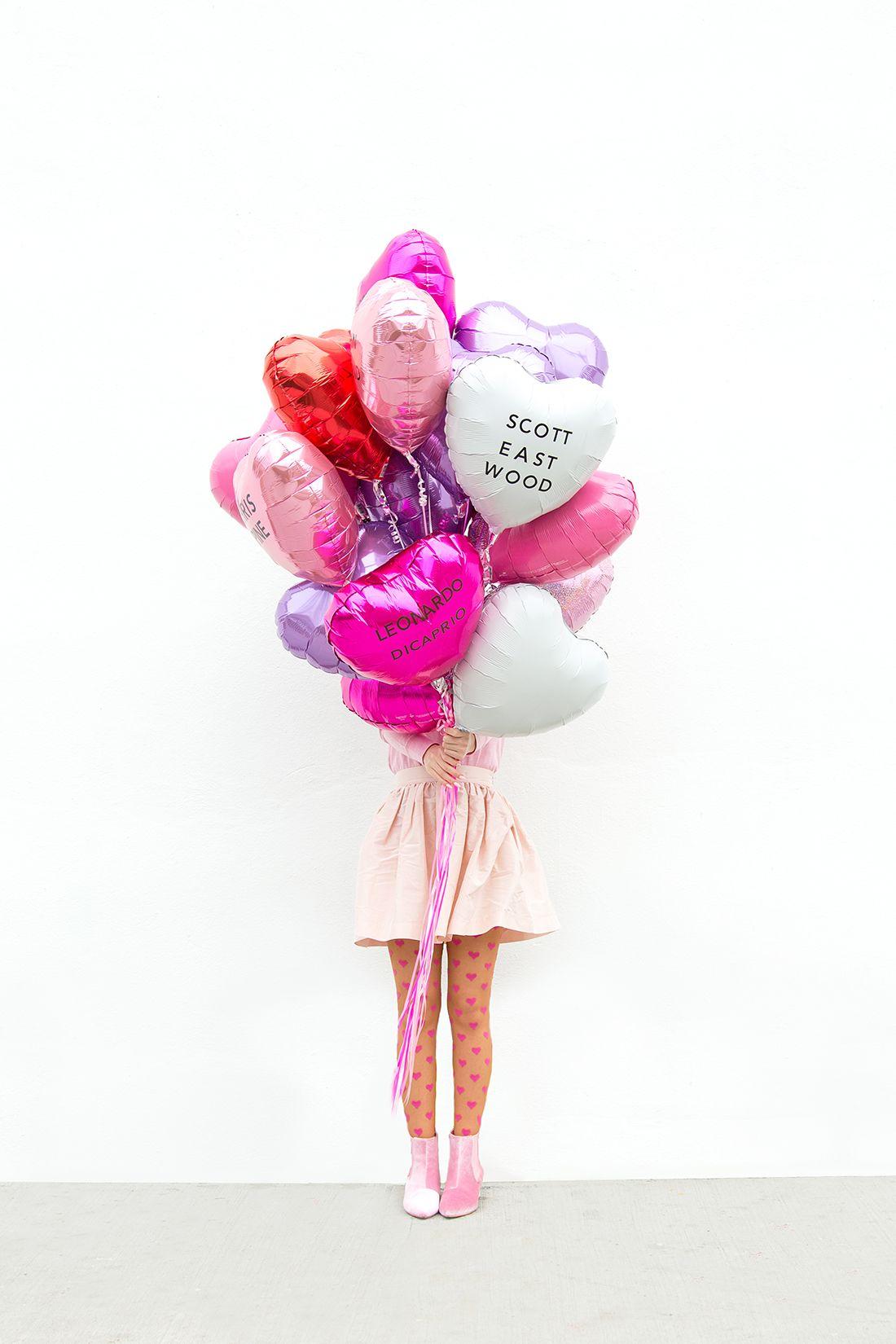 DIY Celebrity Heartthrob Valentineu0027s Day Balloons DIY