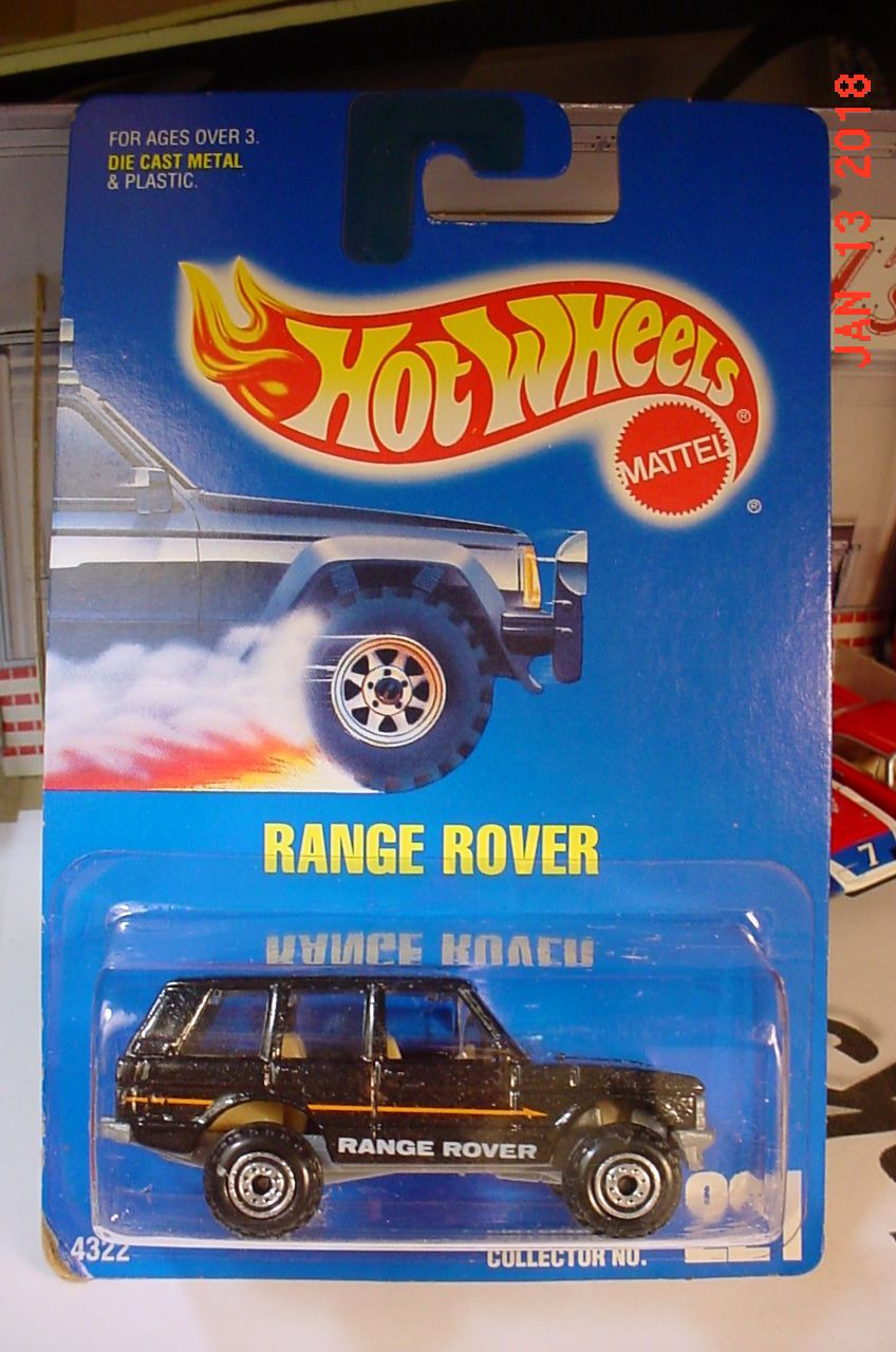 HOT WHEELS 1991 221 Range Rover Black Malaysia BP Hot