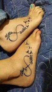 60 Cool Sister Tattoo Ideas to Express Your Sibling Love - Blurmark  Ravishing B...#blurmark #cool #express #ideas #love #ravishing #sibling #sister #tattoo