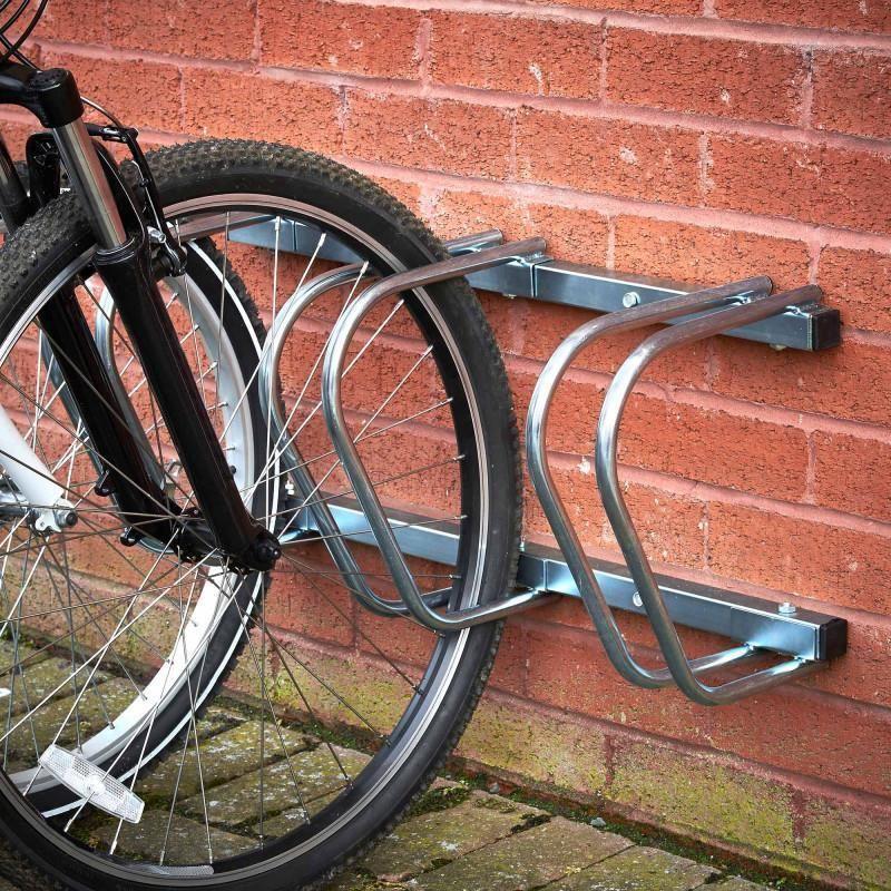 Details About Triple Steel Bike Rack Bicycle Stand Storage Floor