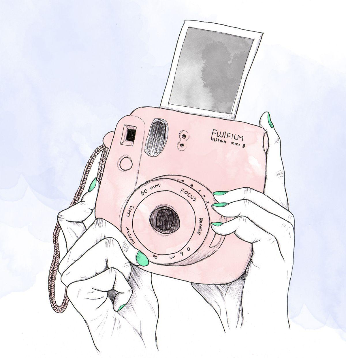 Fujifilm instax mini illustration ink & watercolour