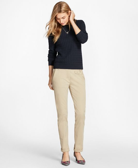 Cable Knit Cotton Cashmere Sweater Brooks Brothers Knit Cotton Cashmere Sweaters Cable Knit
