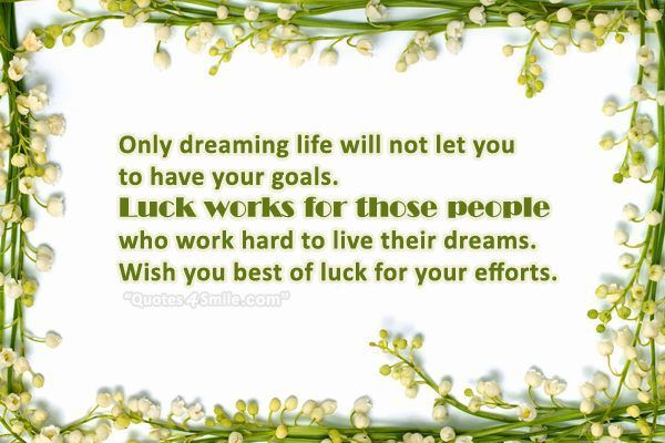 Luck Works For Those People Who Work Hard