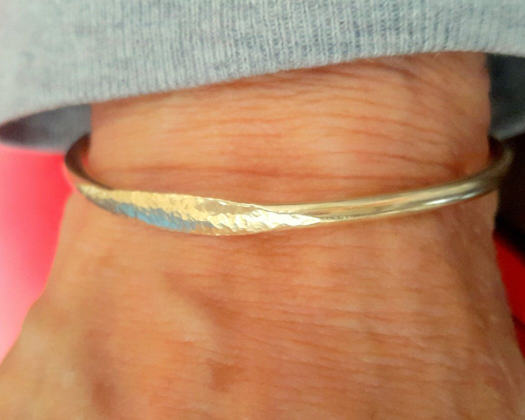 Signet cuff bracelet gold bangle bracelet stacking bracelet