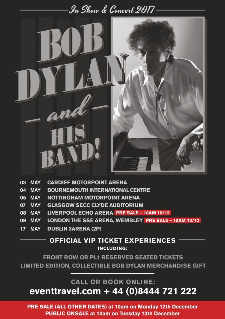 Bob Dylan Ticket And Vip Ticket Experiences Including Front Row And