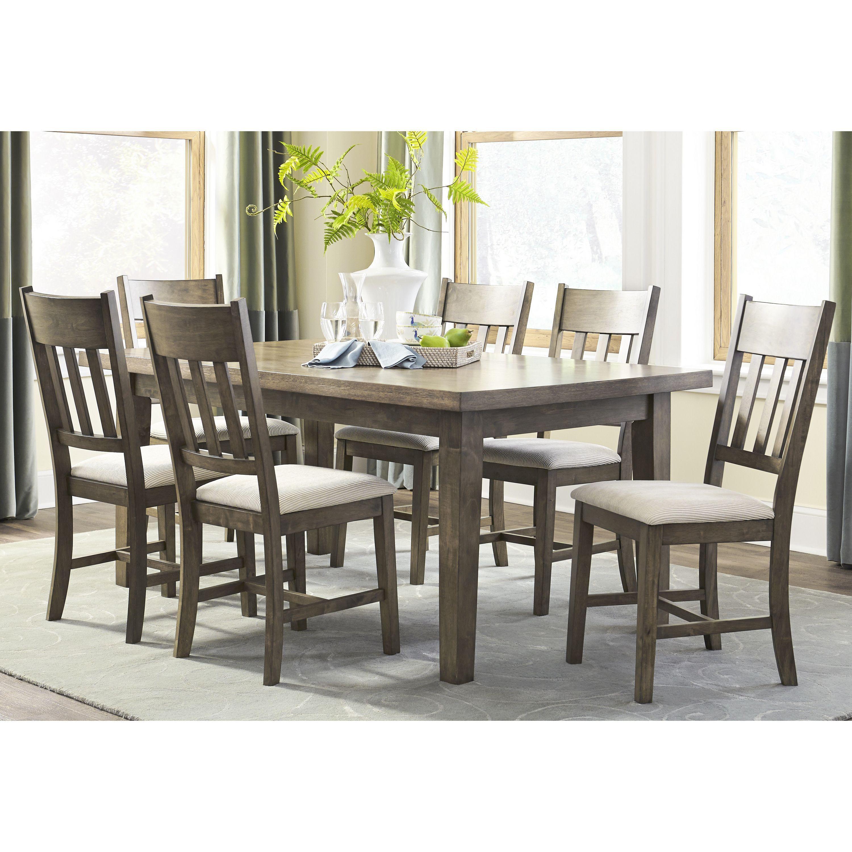 Progressive granger oak finish mdf rubberwood veneer dining table standard height brown