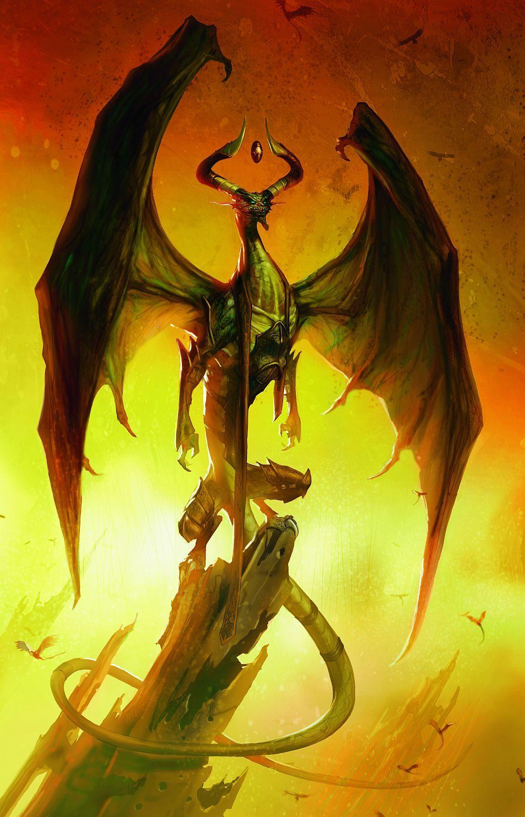 Nicol Bolas Mtg Art Fantasy Dragon Dragon Art