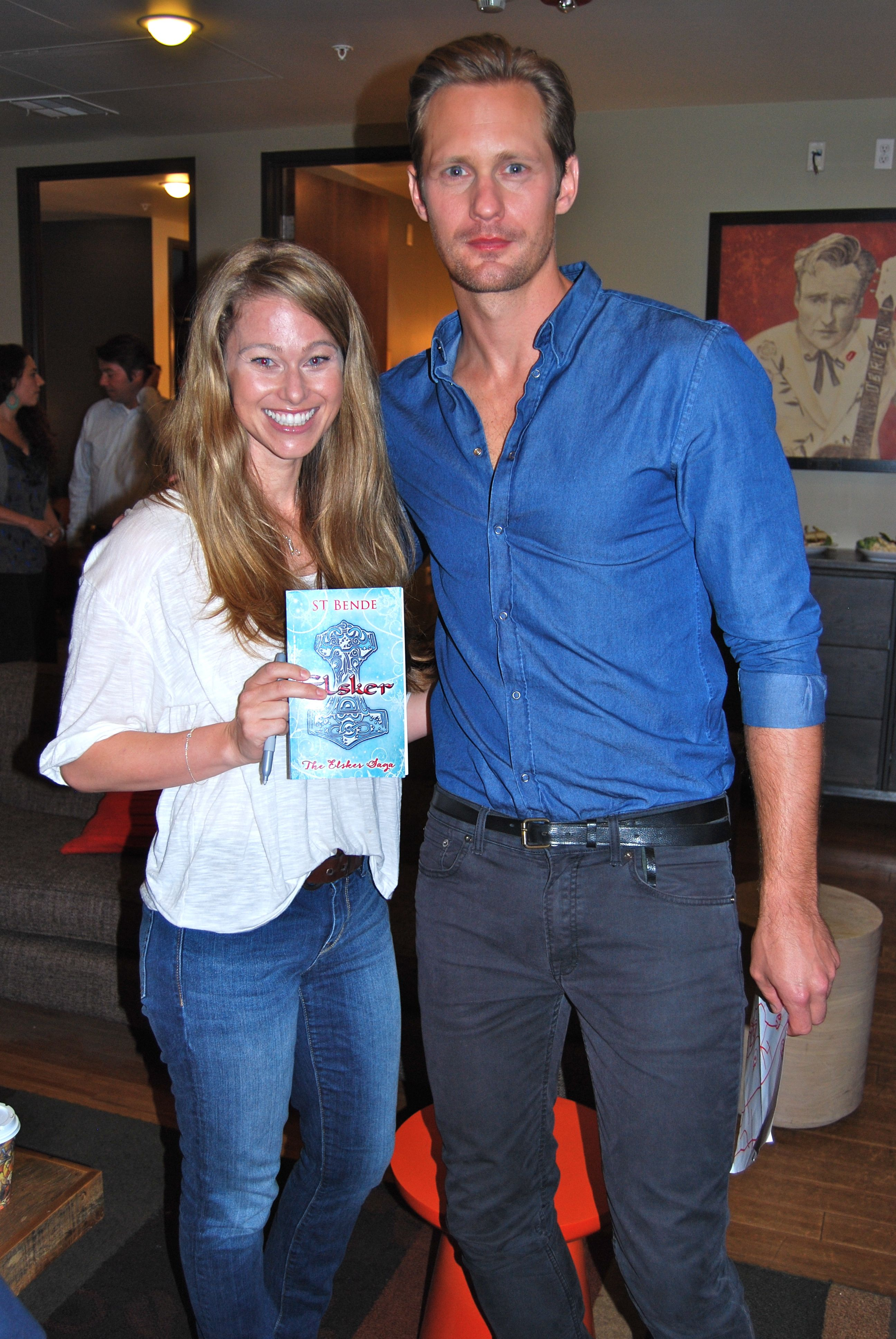 My author ST Bende and her book ELSKER, which True Blood star Alexander Skarsgård signed for her in LA :)