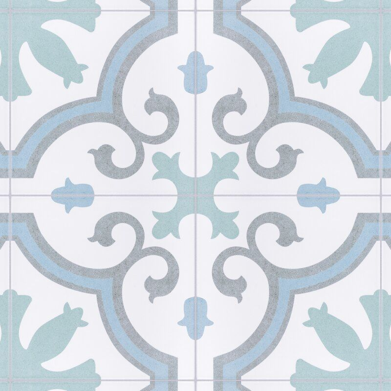 Matteo 10 X 10 Porcelain Spanish Wall Floor Tile In 2020 Tile Floor Flooring Floor And Wall Tile