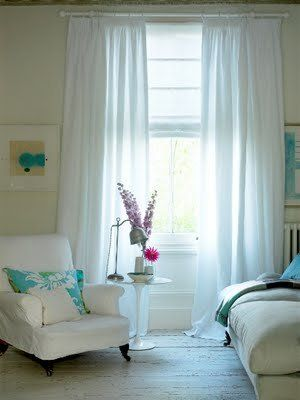White Sheer Curtains With A Roman Blind I M Thinking Of Using This In Living Room Too Much Maybe