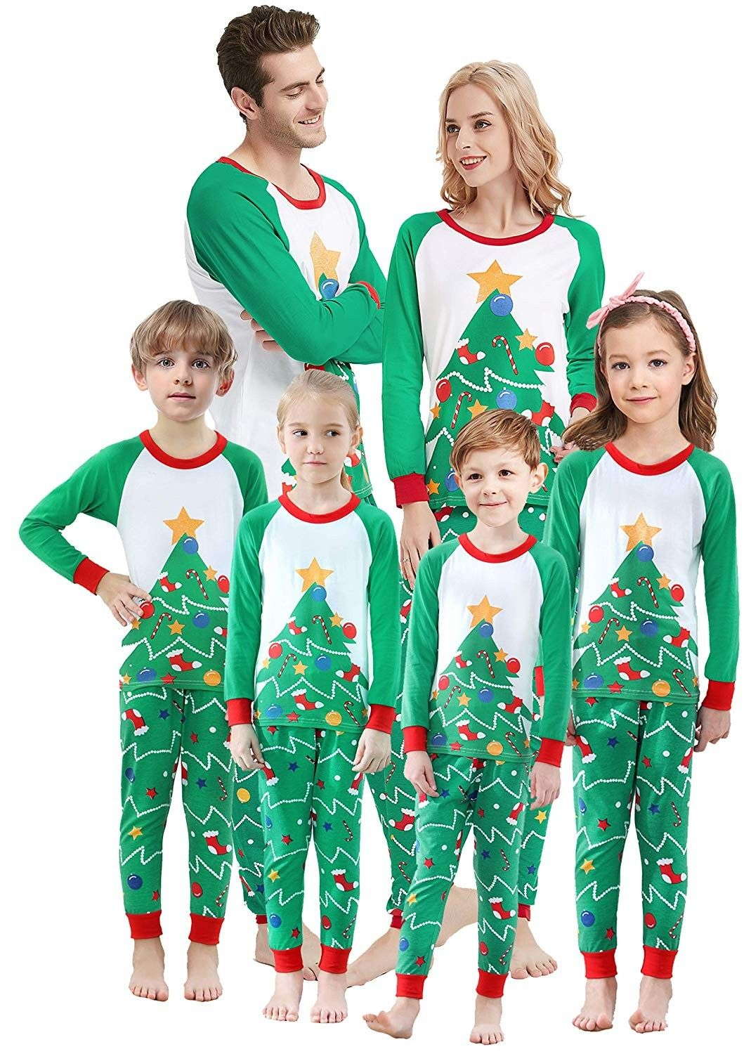 Matching Family Christmas Pajamas Boys Girls Tree Jammies