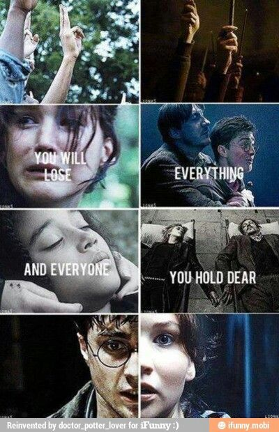 Hunger Games Harry Potter Snape Loves Lily And Katniss Loves Peeta Hunger Games Hunger Games Memes Hunger Games Fandom