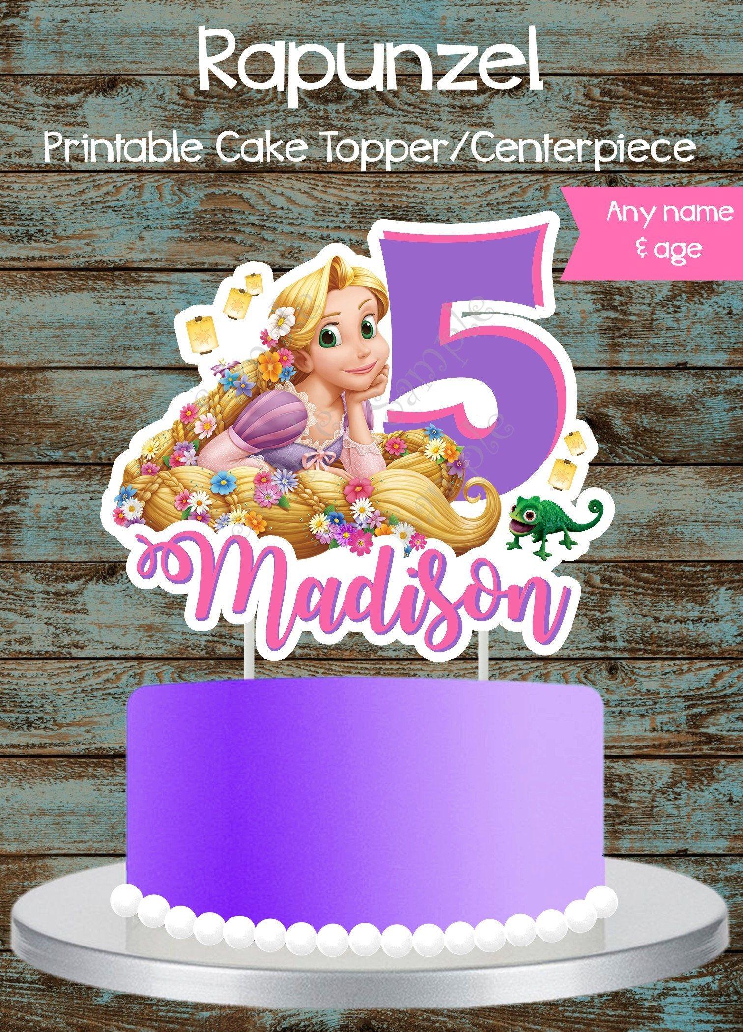 Custom Rapunzel Cake Topper Centerpiece Tangled
