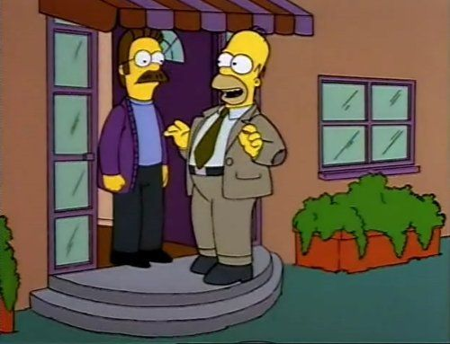 Can't talk now, Flanders. I've got a class to teach!