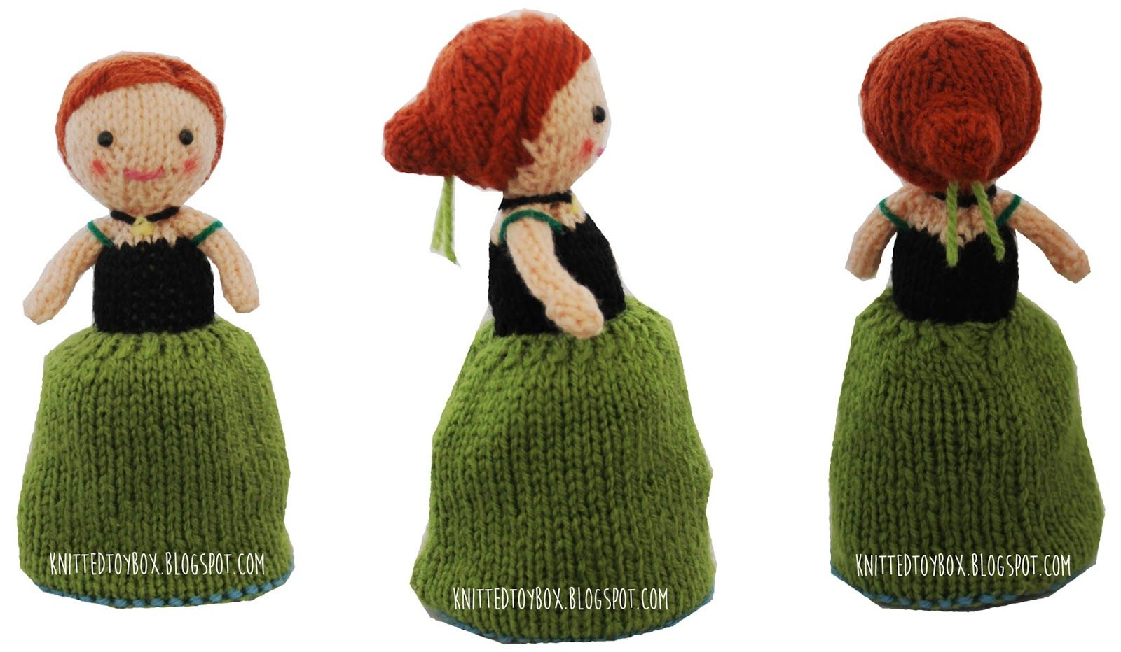 Knitted Toy Box: Anna Frozen Flip Doll | Knitting | Pinterest | Patrones