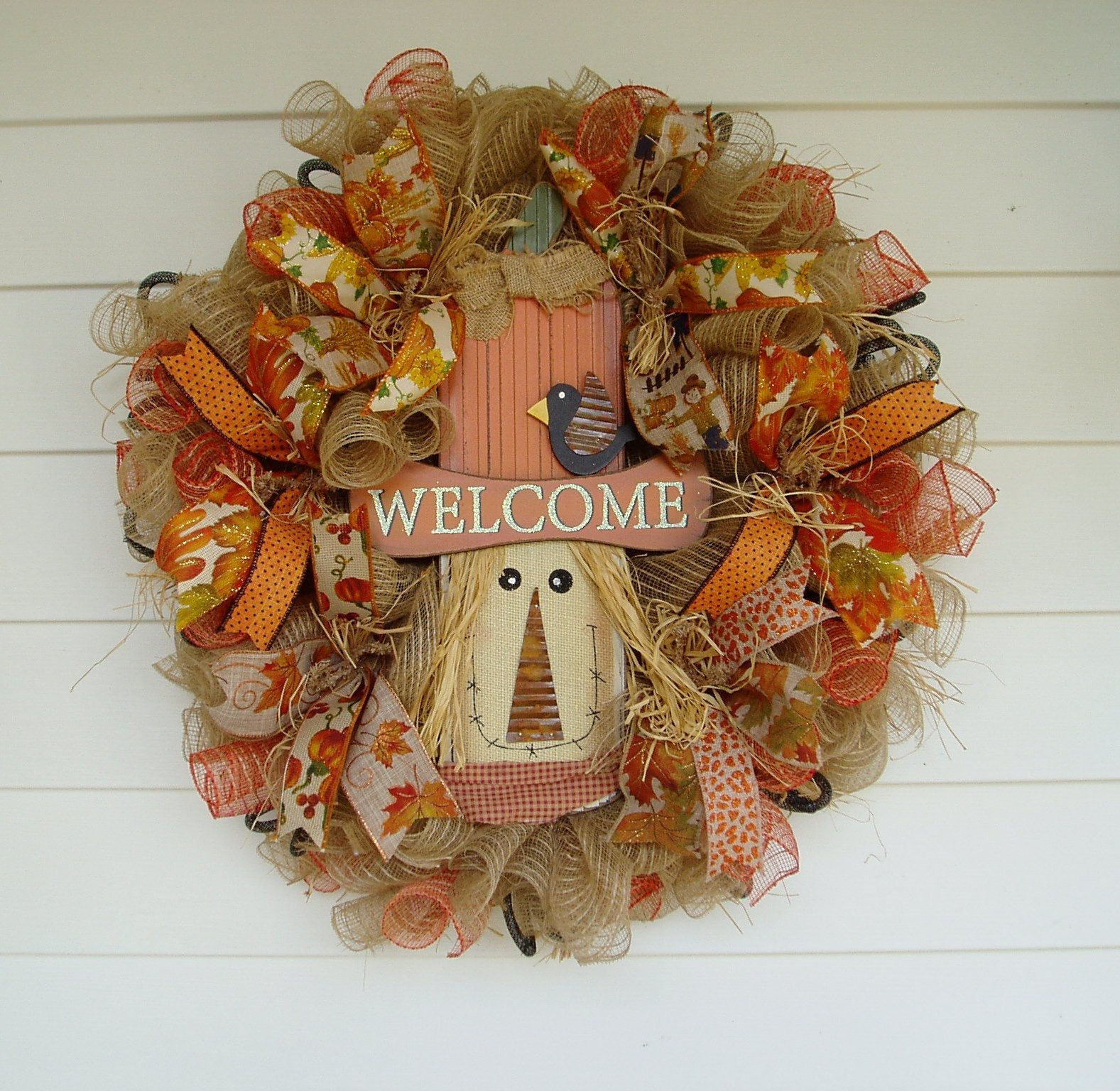 Scarecrow Wreath, Fall Wreath with Scarecrow, Fall Front Door Wreath, Fall Mesh Wreath, Whimsical Wreath, Fall Burlap Wreath, Fall Wreath #scarecrowwreath Scarecrow Wreath, Fall Wreath with Scarecrow, Fall Front Door Wreath, Fall Mesh Wreath, Whimsical Wreath, Fall Burlap Wreath, Fall Wreath #scarecrowwreath