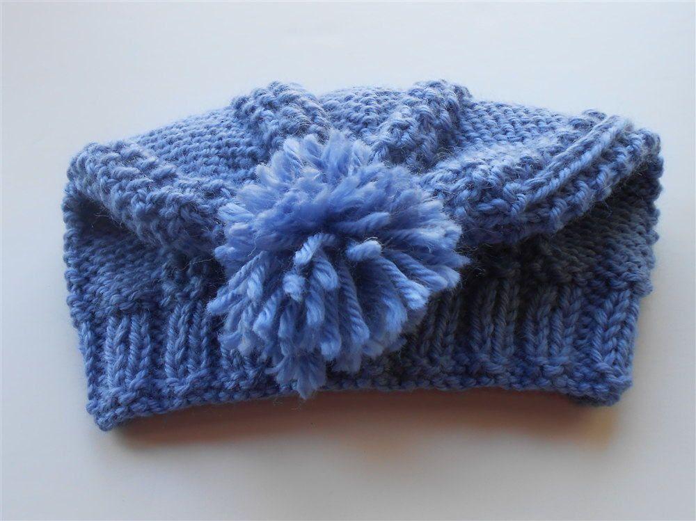 1d0de7ac6e3 Blue Pompom Hat