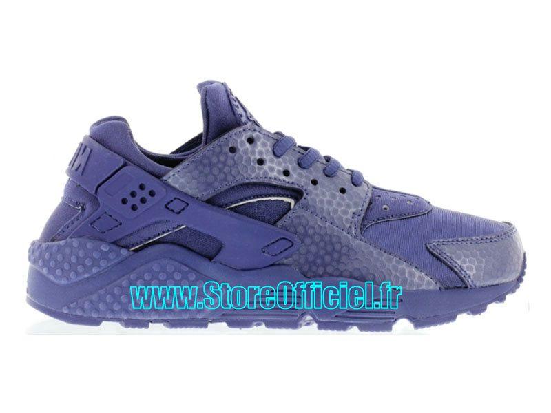 Nike Basket Huarache GS Pas Cher Chaussure Pour Femme Rose/Gris/Bleu 634835-036