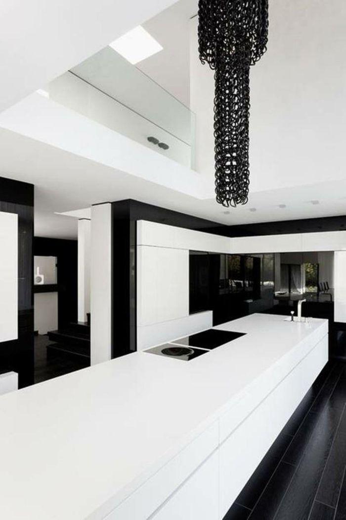 Muster In Schwarz Weiß Wandgestaltung Mit Farbe Schwarz Weiß Wohnzimmer  Einrichten Weiss Schwarz Küche