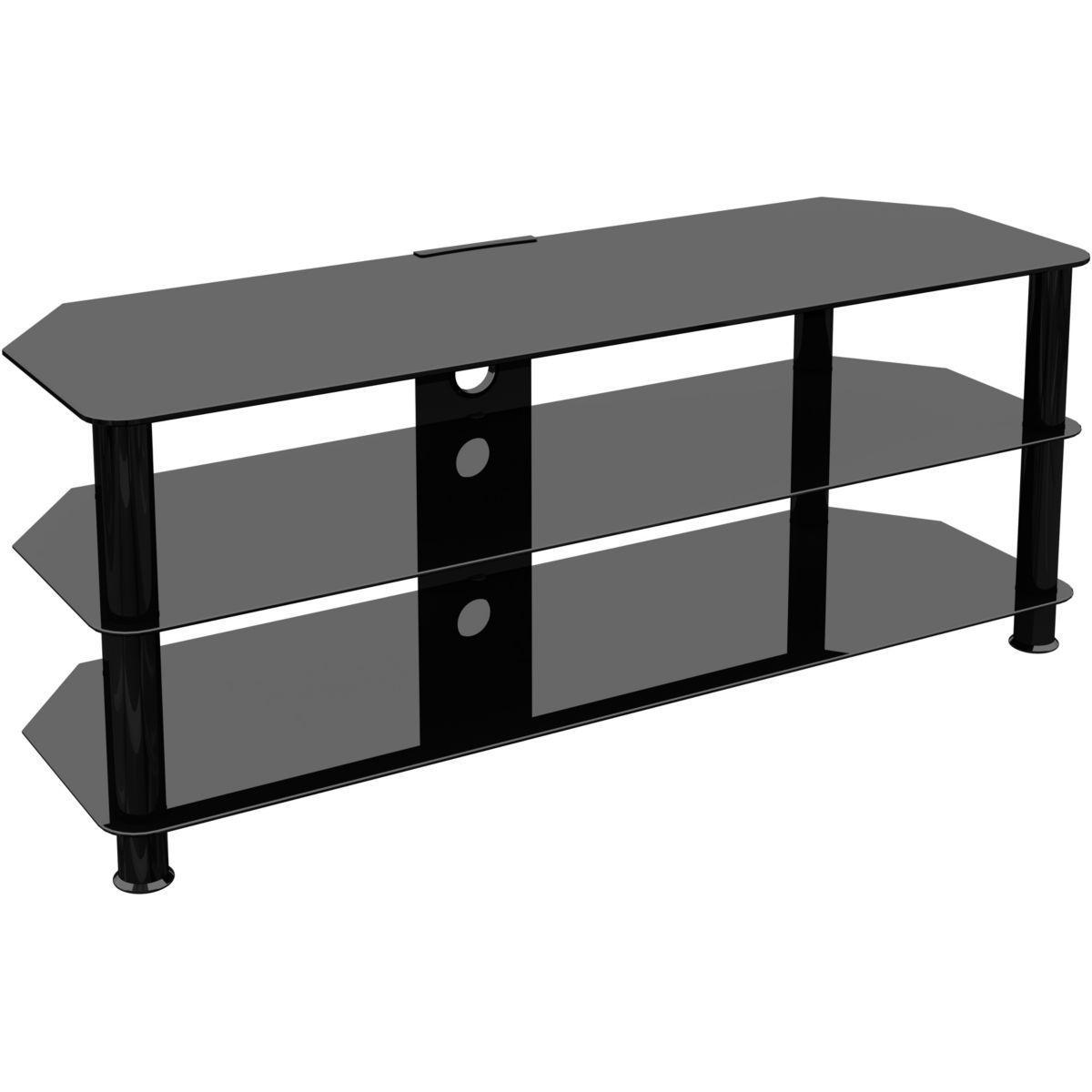 Meuble Tv Avec Cache Fils meuble tv sdc 1250 60'' avec cache câbles - taille : taille