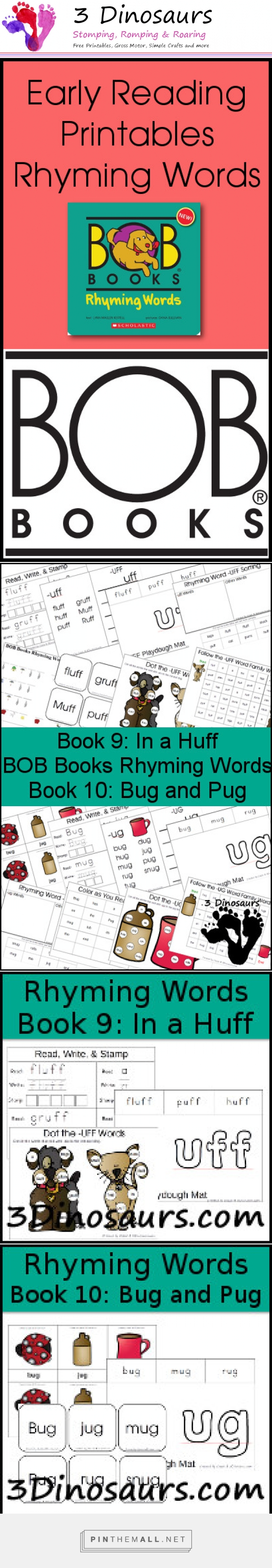Early Reading Printables: BOB Books Rhyming Words Books 9 & 10 ...