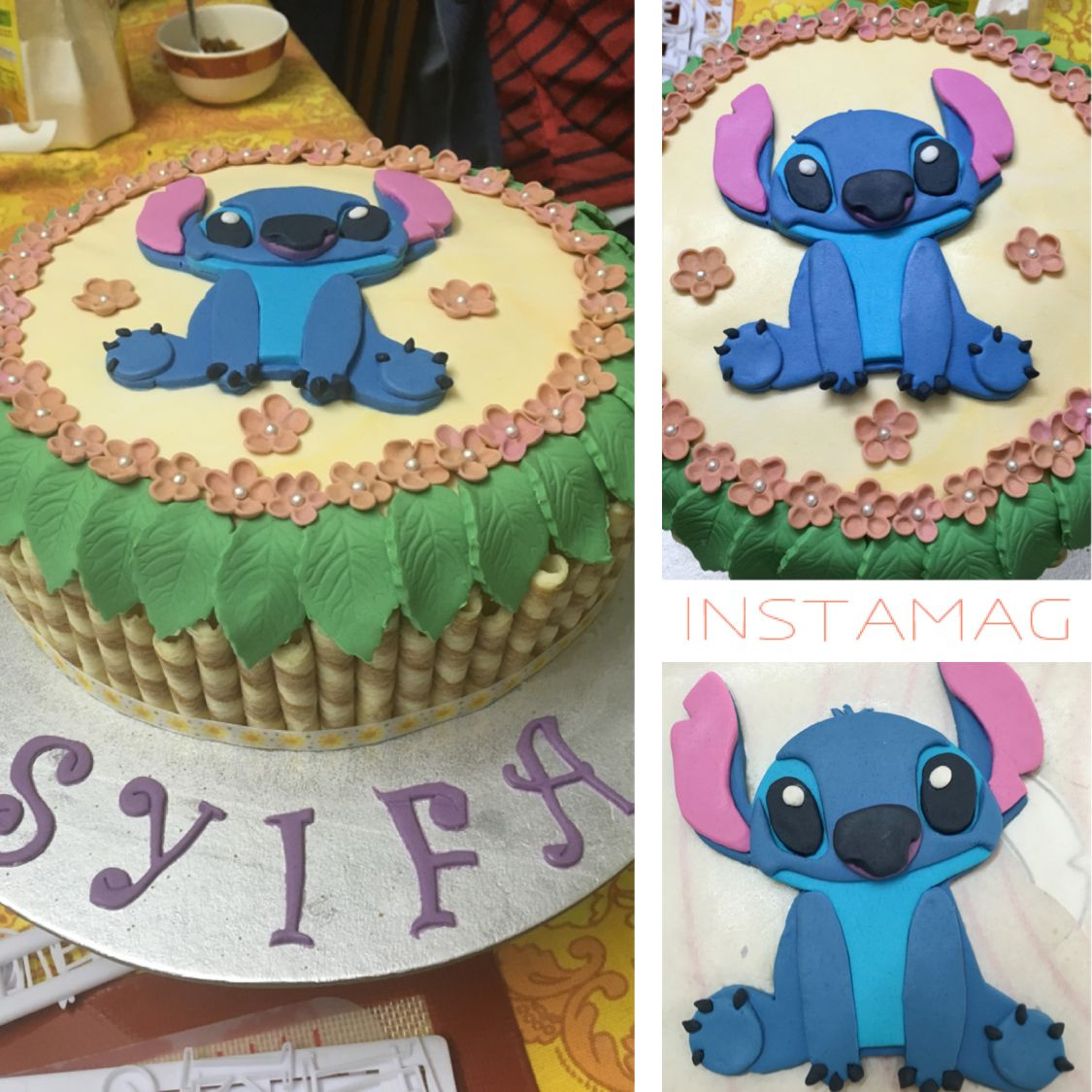 Disney Stitch Birthday Cake With Images Disney Birthday Cakes
