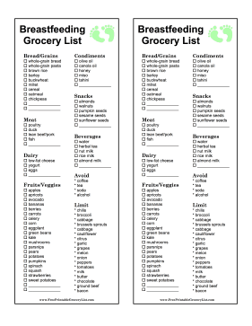 This Breastfeeding Grocery List For New Mothers Includes