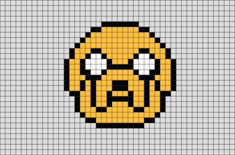 adventure time jake pixel art