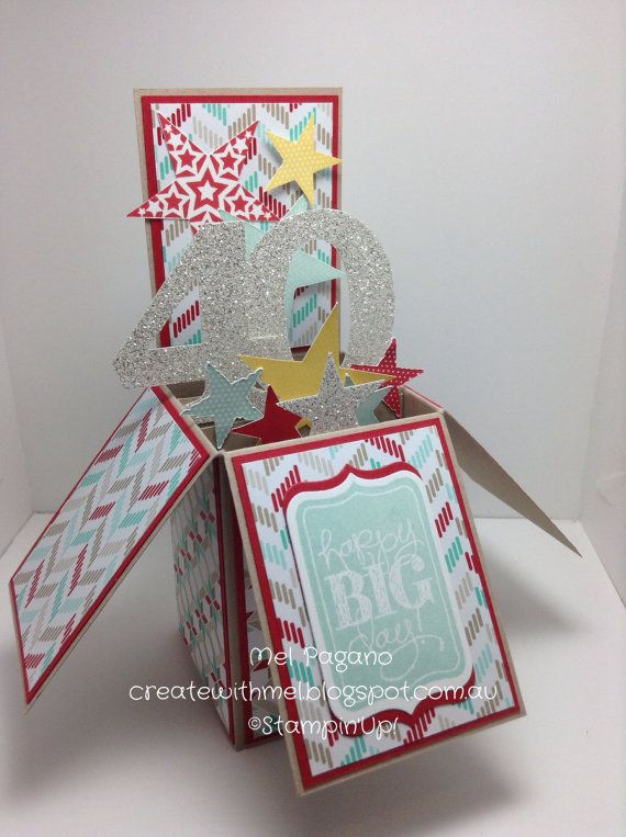 Stampin up handmade card in a box birthday box birthdays and cards stampin up handmade card in a box birthday by createwithmel bookmarktalkfo Choice Image