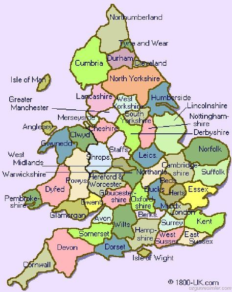 Map Of England Showing Yorkshire.England Counties England England Map England Uk England