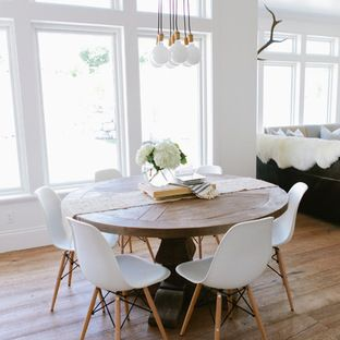 Most Popular Stories On Houzz Eames Dining Rustic Round Table Farmhouse Dining Room