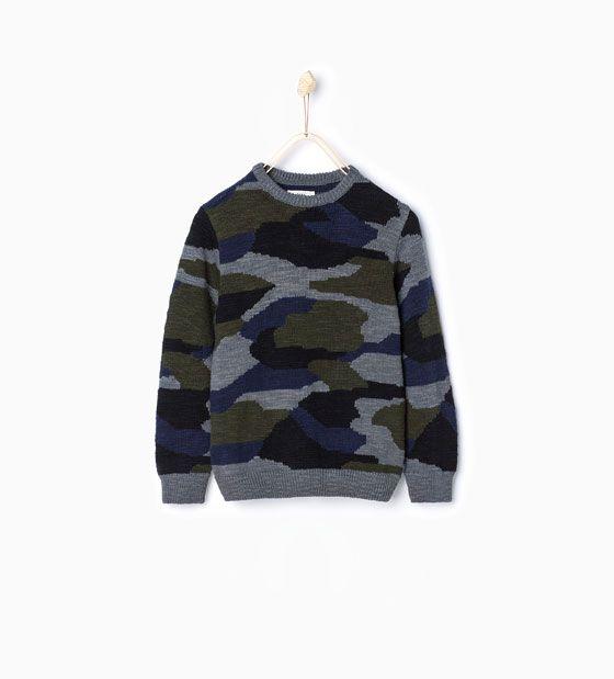 Jersey punto camuflaje-Chaquetas y jerseys-Niño-Niños | 4-14 años ...