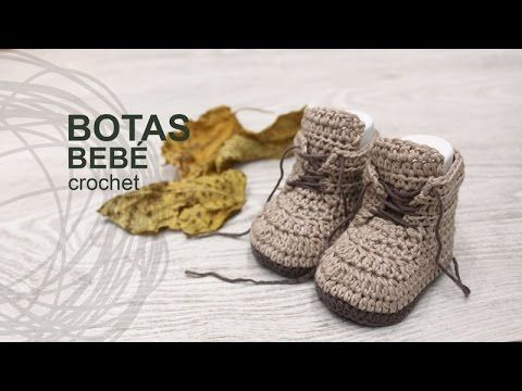 Tutorial Botas Bebé Crochet o Ganchillo en Español | Pinterest ...