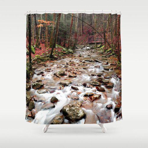 Creek Shower Curtain River By MayaRedPhotography