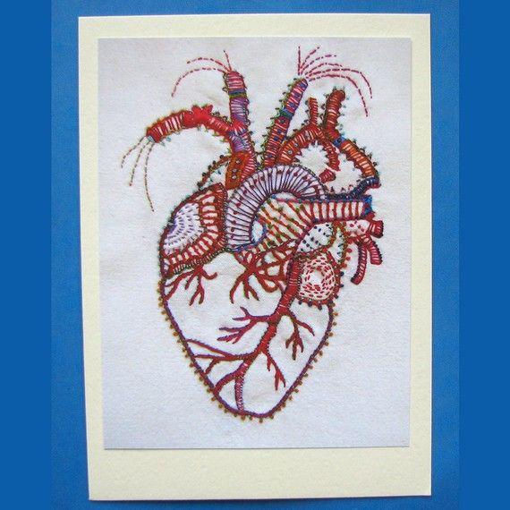 Anatomical Heart Valentine Blank Card   Corazones   Pinterest ...