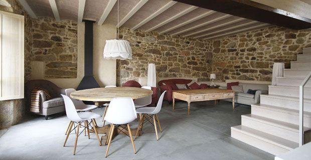 ristrutturare-casa-pietra-d Idee che ispirano Pinterest - wohnzimmer deko steinwand