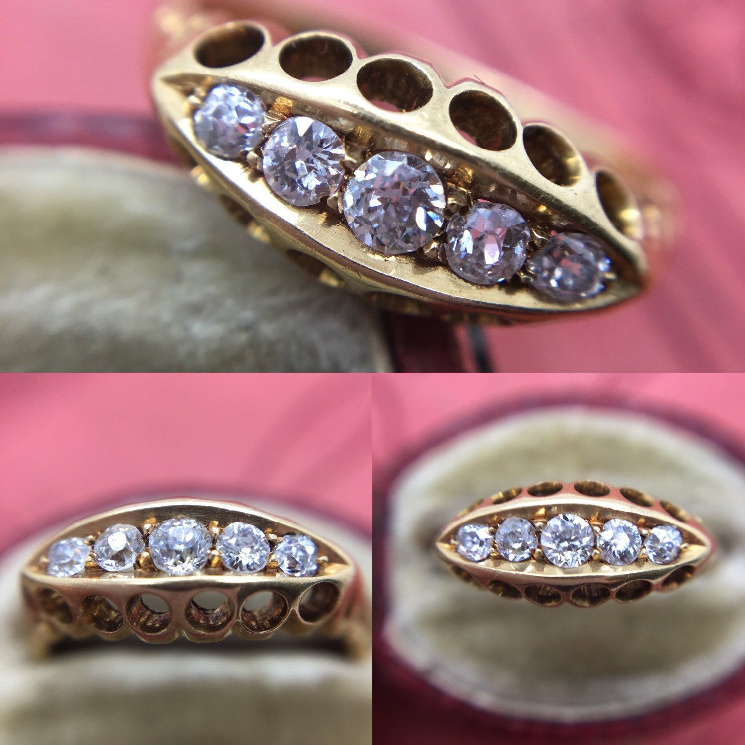 A lovely antique diamond ring just listed! Dated Chester 1905 ...
