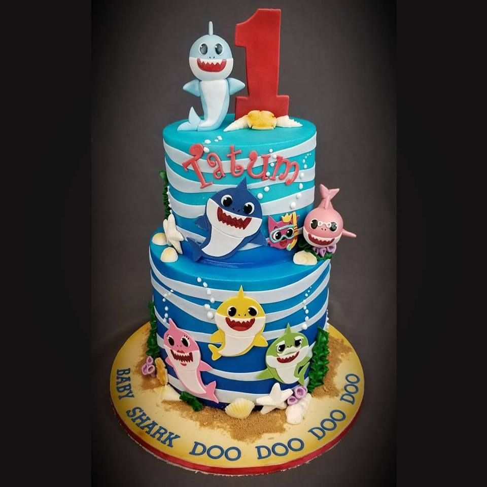 Super Baby Shark Birthday Cake Custom Cakes Mn Minneapolis St Paul Mn Funny Birthday Cards Online Elaedamsfinfo
