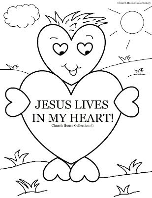 God Looks At The Heart Coloring Page