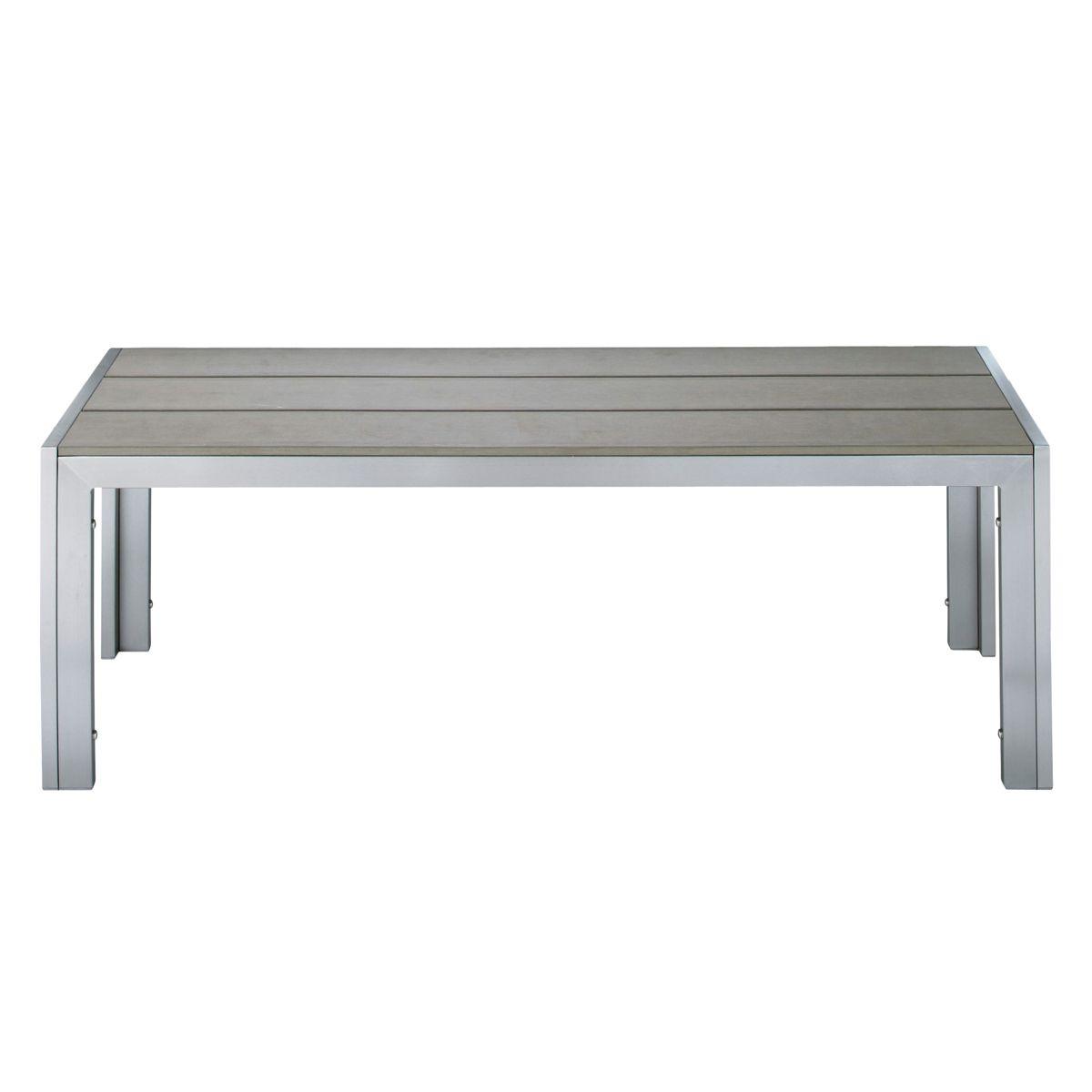 Maisons du Monde banc €99 120x42 Aluminium / Composite bois Banc de ...