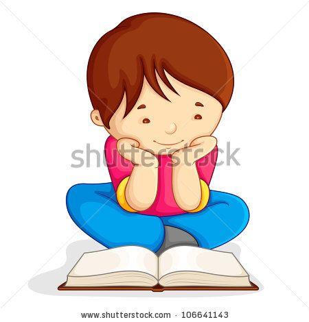 Vector Illustration Of Boy Reading Open Book Sitting On Floor By Stockshoppe Via Shutterstock Reading Books Illustration Open Book Vector Illustration