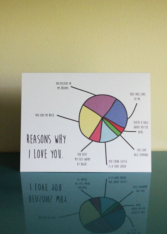 Reasons Why I Love You Card Cute For Valentines Day For My