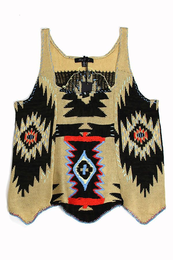 Aztec Print Knit Tank – Spotted Moth // $54.99 #knittanktop #tribalprint #aztecprint #musthave
