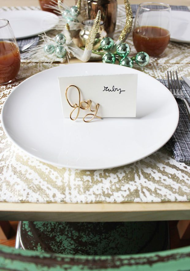 howto easy wire place card holders  place card holders