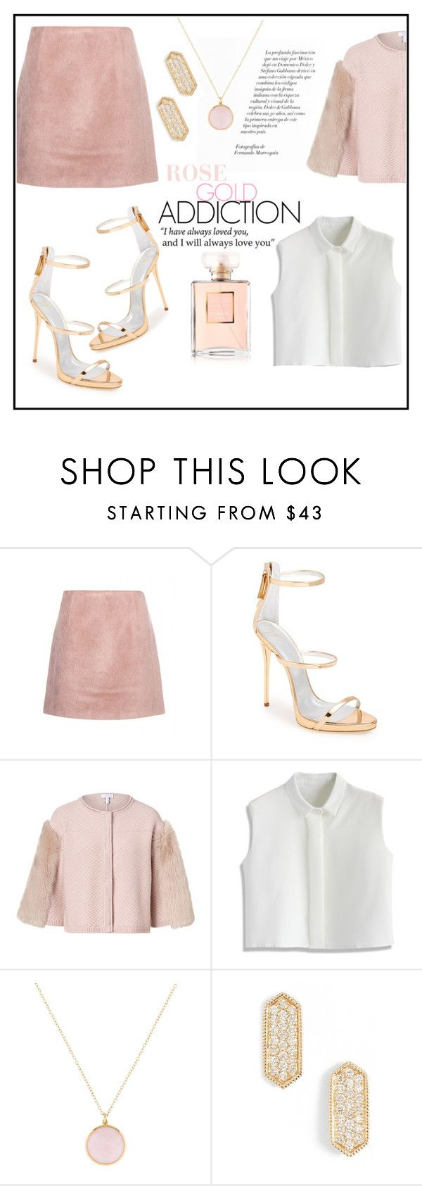 """""""ROSE AND GOLD SANDALS SET"""" by stylecious ❤ liked on Polyvore featuring Acne Studios, Giuseppe Zanotti, ESCADA, Chicwish, Ippolita, Dana Rebecca Designs, goldsandals and polyvoreeditorial"""