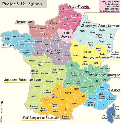 Nouvelle Carte Region De France   My blog