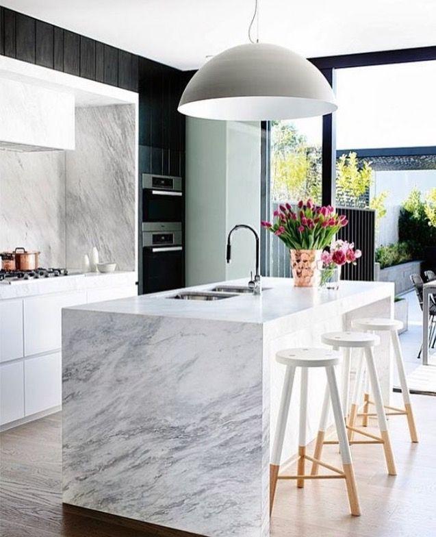Carrara Marble Kitchen Benchtops: Interior Design Kitchen, Kitchen Interior And Modern