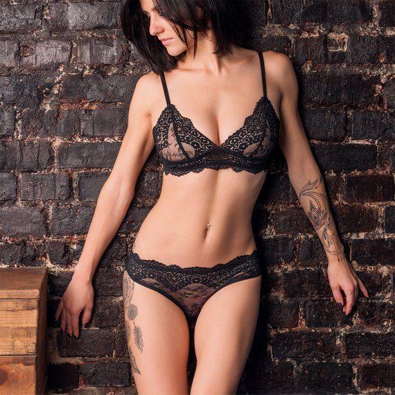 af513d53c7c5 sexy lingerie boudoir lingerie set see through lingerie bustier black bra  black lace bralette sexy u