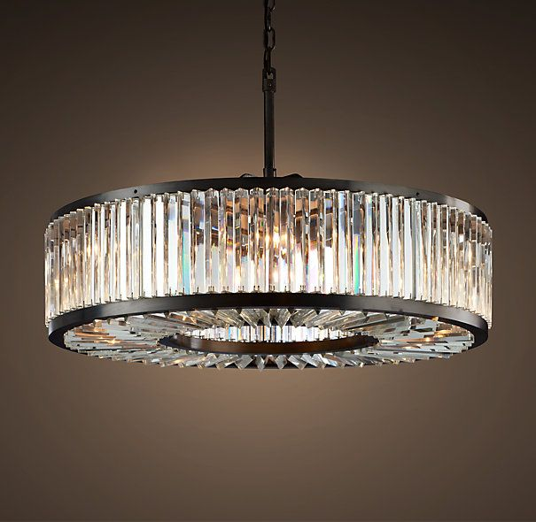 Welles Clear Crystal Round Chandelier 43 With Images Round